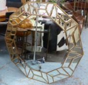 WALL MIRROR, 1960's French style, 100.5cm diam.