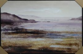 CONTEMPORARY SCHOOL, untitled seascape, framed, 122cm x 83cm.