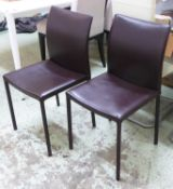 CIACCI GAIA DINING CHAIRS, a set of six. (6)