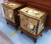 SIDE CHESTS, a pair, contemporary Japanese style painted finish.