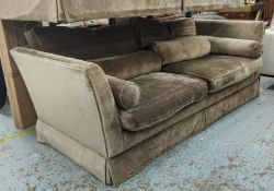 ANDREW MARTIN SOFA, brown fabric upholstered, 200cm W approx. (slight faults)