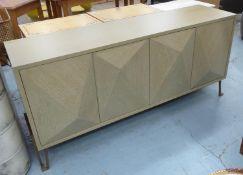 EICHHOLTZ HIGHLAND DRESSER, washed oak veneer finish, 181cm x 46cm x 82.5cm.