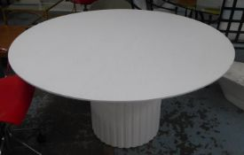 HK LIVING PILLAR DINING TABLE, 78.5cm H x 140cm Diam.