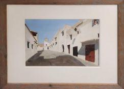 JOHN NEWBERRY RWS (British b.1934) 'Andalucia', watercolour, signed, 24cm x 34cm, framed. (Subject