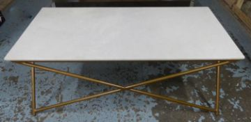 ATKIN & THYME STELLAR MARBLE LOW TABLE, 121cm x 61cm x 47cm.