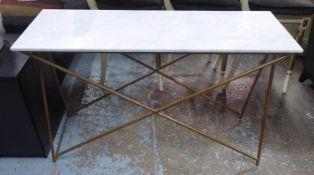 ATKIN & THYME STELLAR MARBLE CONSOLE TABLE, 122cm x 42cm x 76cm.