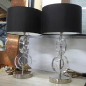PORTA ROMANA BERTIE TABLE LAMPS, a pair, with shades, 47cm H approx. (2)