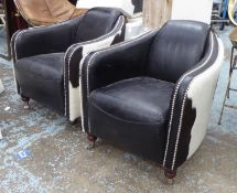ARTSOME FOR SWIVEL BASE COACH HOUSE ARMCHAIRS, a pair, 76cm H approx. (2)