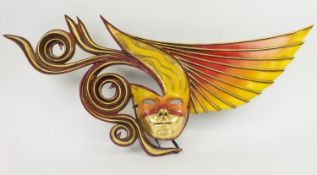 MICHAEL TAYLOR VENETIAN STYLE MASKS, a collection of three, wall display art work. (3)