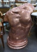 STUDY OF AN ADONIS, bronzed finish, 108cm H x 65cm W.