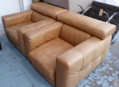 NATUZZI NICOLAUS ARMCHAIRS, a pair, 94cm W approx. (3) (with faults)