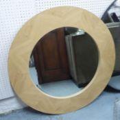 HUDSON WALL MIRROR, beech frame, 90cm diam.