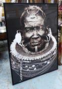 CONTEMPORARY SCHOOL, portrait of an African gentleman, framed, 144.5cm x 104.5cm.