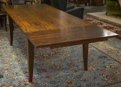 DINING TABLE, rosewood with rectangular top and leaf extensions, 73cm H x 99cm x 162cm L, 260cm