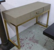 DRESSING TABLE, faux shagreen, 120cm x 47cm x 78cm.