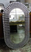 DIAMANTE WALL MIRROR, contemporary, 120cm x 70cm.