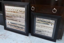 CONTEMPORARY SCHOOL UNTITLED DIPTYCH, framed and glazed, 80.5cm x 80.5cm at largest. (2)