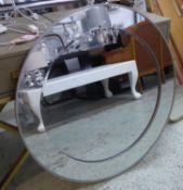 CIRCULAR WALL MIRROR, contemporary, mirrored frame, 83cm Diam.
