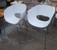 SIDE CHAIRS, a pair, 1960's style, 81cm H. (2)