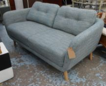 SOFA, 1960s Danish style, with buttoned back detail, 175cm W.