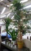 FAUX PLANTS, a collection of eight various, potted, 157cm at tallest. (8)