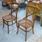 DINING CHAIRS, a set of six, 1920's French style, caned seats. 89cm H. (6)