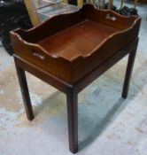 BUTLER'S TRAY TABLE, Georgian style mahogany, 72cm x 48.5cm x 73cm.
