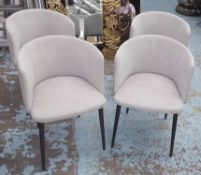 CAMERICH BALLET CHAIRS, a set of four, 51cm W x 73cm H. (4)