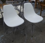 VITRA DSR CHAIRS, a pair, by Charles and Ray Eames, 83cm H. (2)