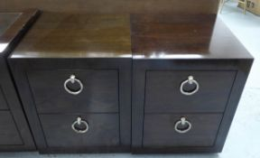 PORTA ROMANA CONKER SIDE CHESTS, a near pair, 45cm x 46cm x 57cm.