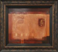 MARK SPAIN (b. 1962) 'Scorch III - Abstract', oil on board, 50cm x 60cm, framed, bears Halcyon