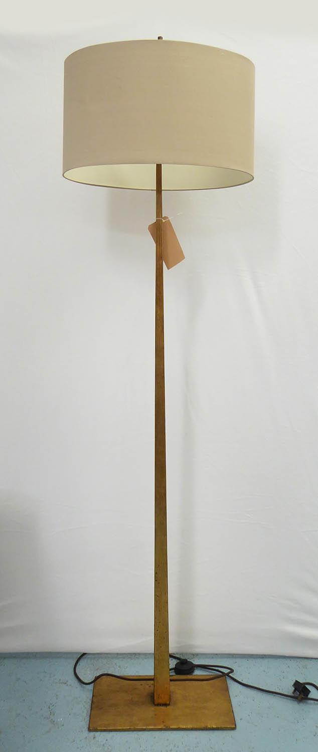 PORTA ROMANA TAPERING HARRAL FLOOR LAMP, with shade, 189cm H.