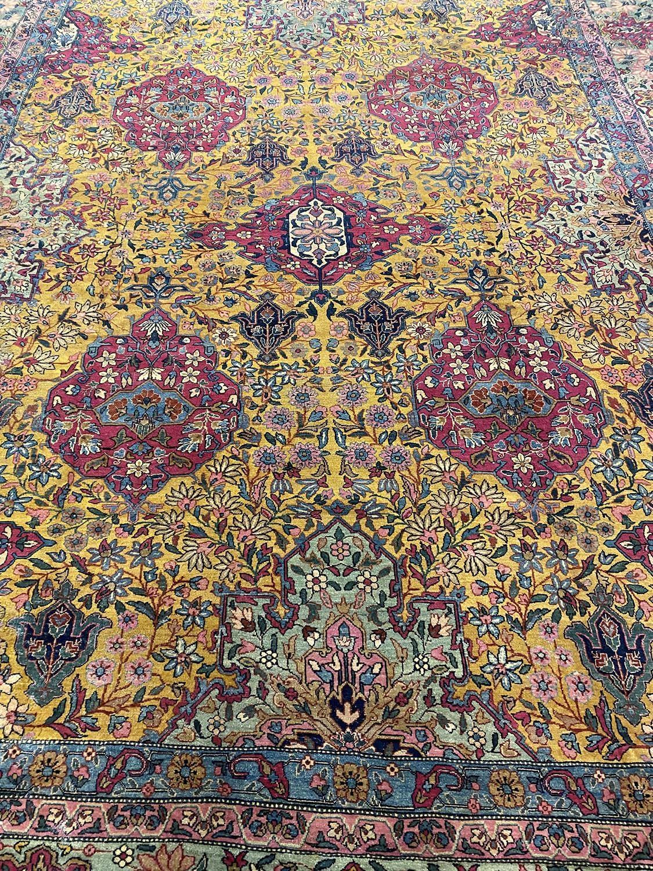 FINE ANTIQUE TEHRAN CARPET, 365cm x 280cm, golden field. - Image 2 of 3