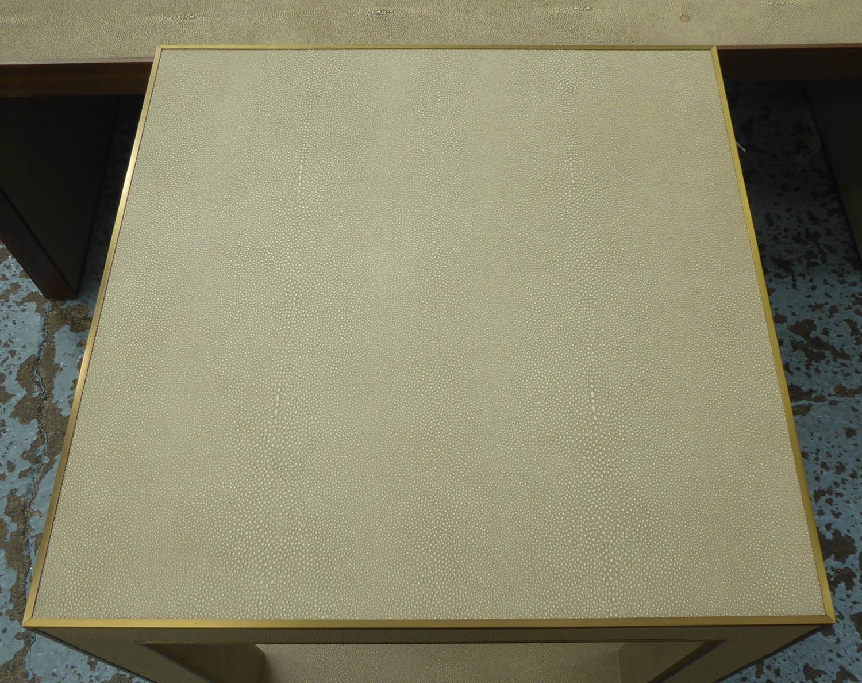 RESTORATION HARDWARE CELA SIDE TABLE BY CHARLIE ZAGAROLI, 56cm x 56cm x 57cm. - Image 3 of 4