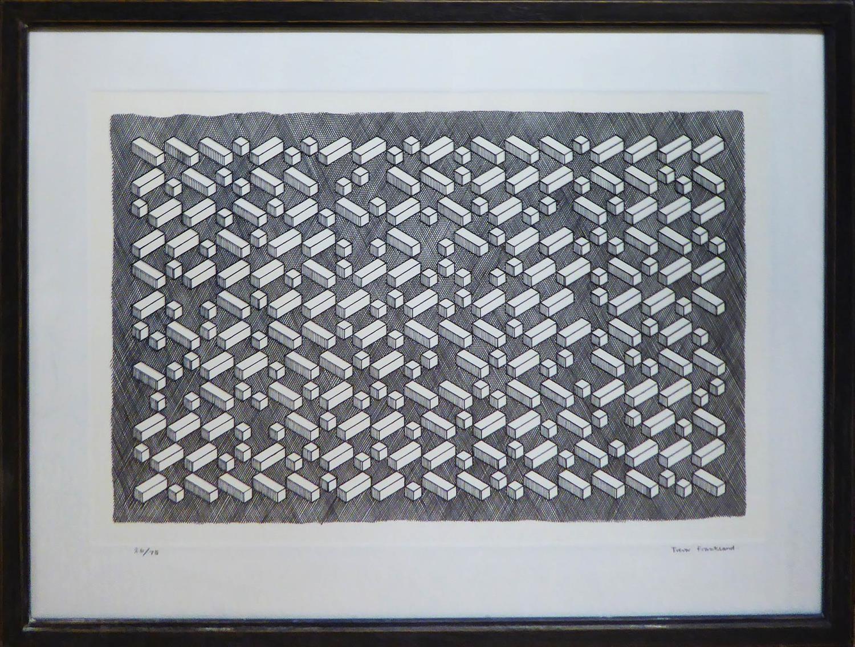 TREVOR FRANKLAND (British 1931-2011) engraving, signed and numbered 26/75, 65cm x 90cm x framed