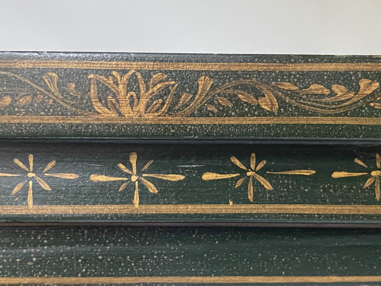 CABINET ON CHEST, 20th century dark green lacquer, gilt metal mounted and Chinoiserie decorated in - Image 4 of 9