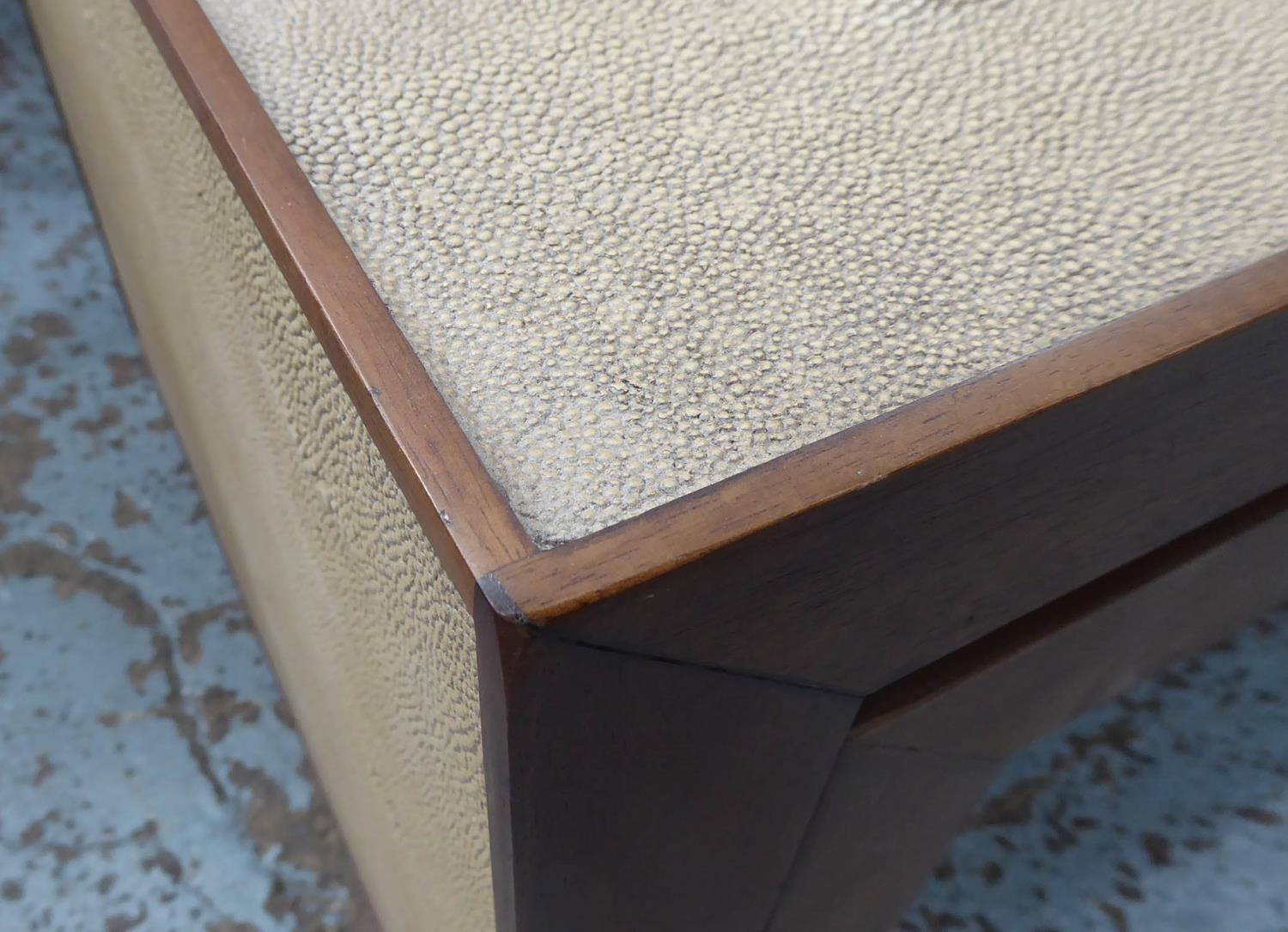 NEST OF TABLES, contemporary, faux shagreen finish, 137.5cm x 67cm x 49cm at largest. - Image 6 of 6
