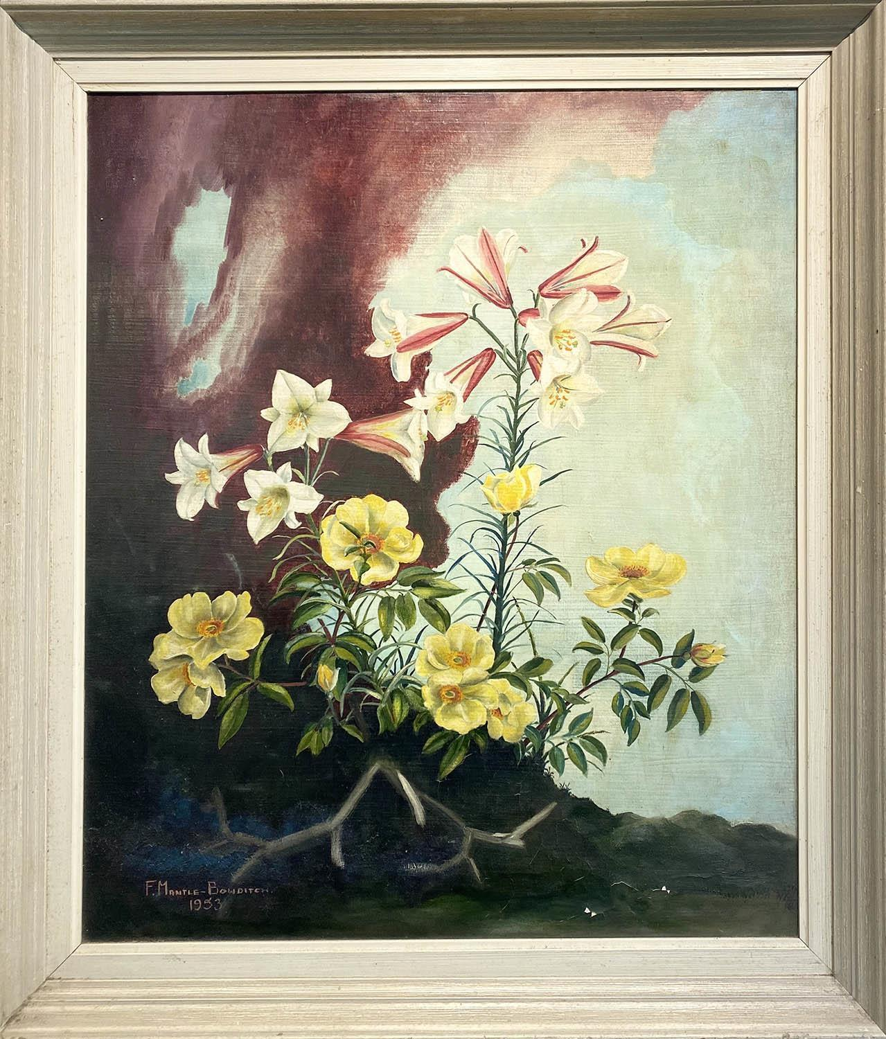 FRANCIS R. MANTLE-BOWDITCH (1916-2001) 'Botanical study', oil on canvas, signed and dated lower