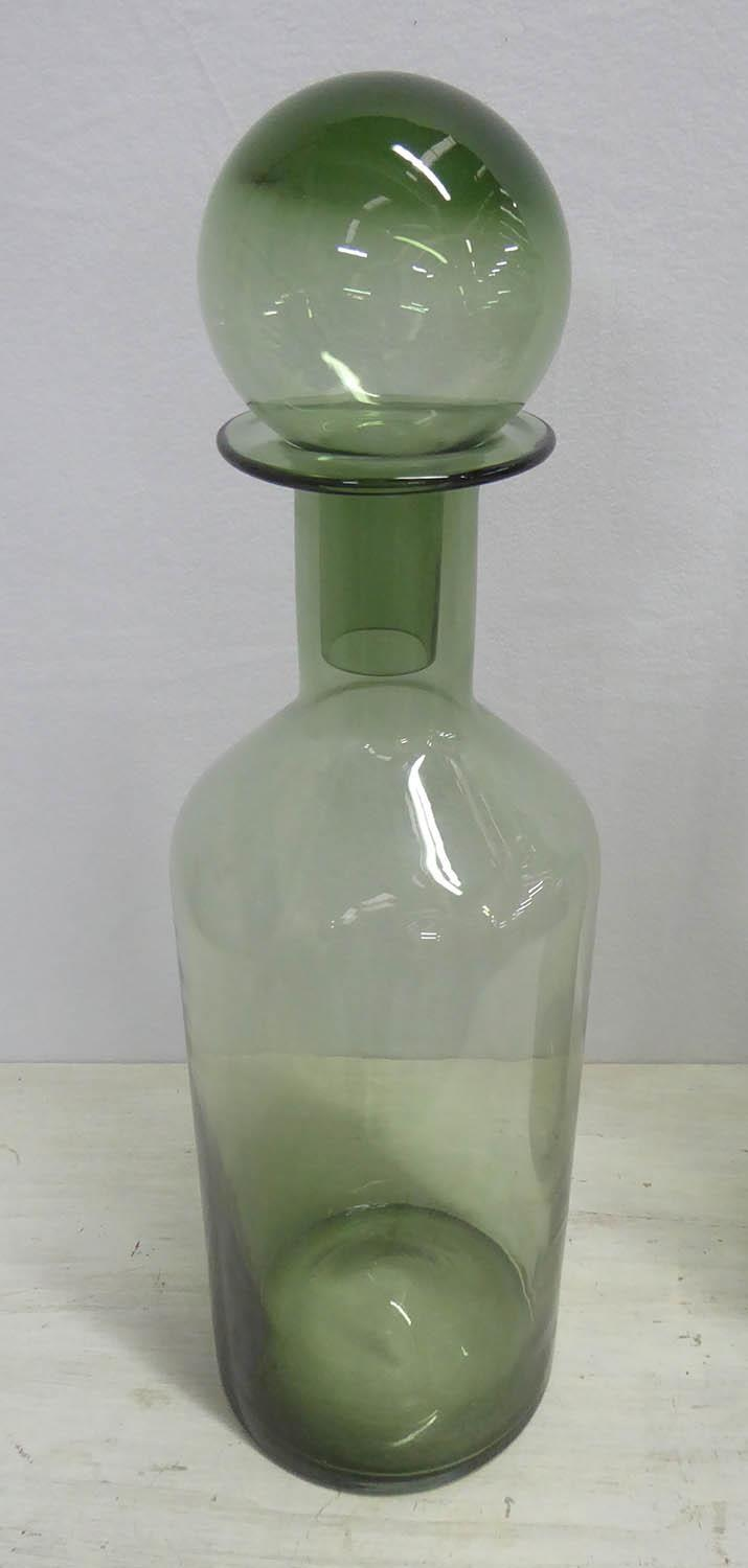 MURANO STYLE DECANTERS, a pair, 54cm H. (2) - Image 2 of 3