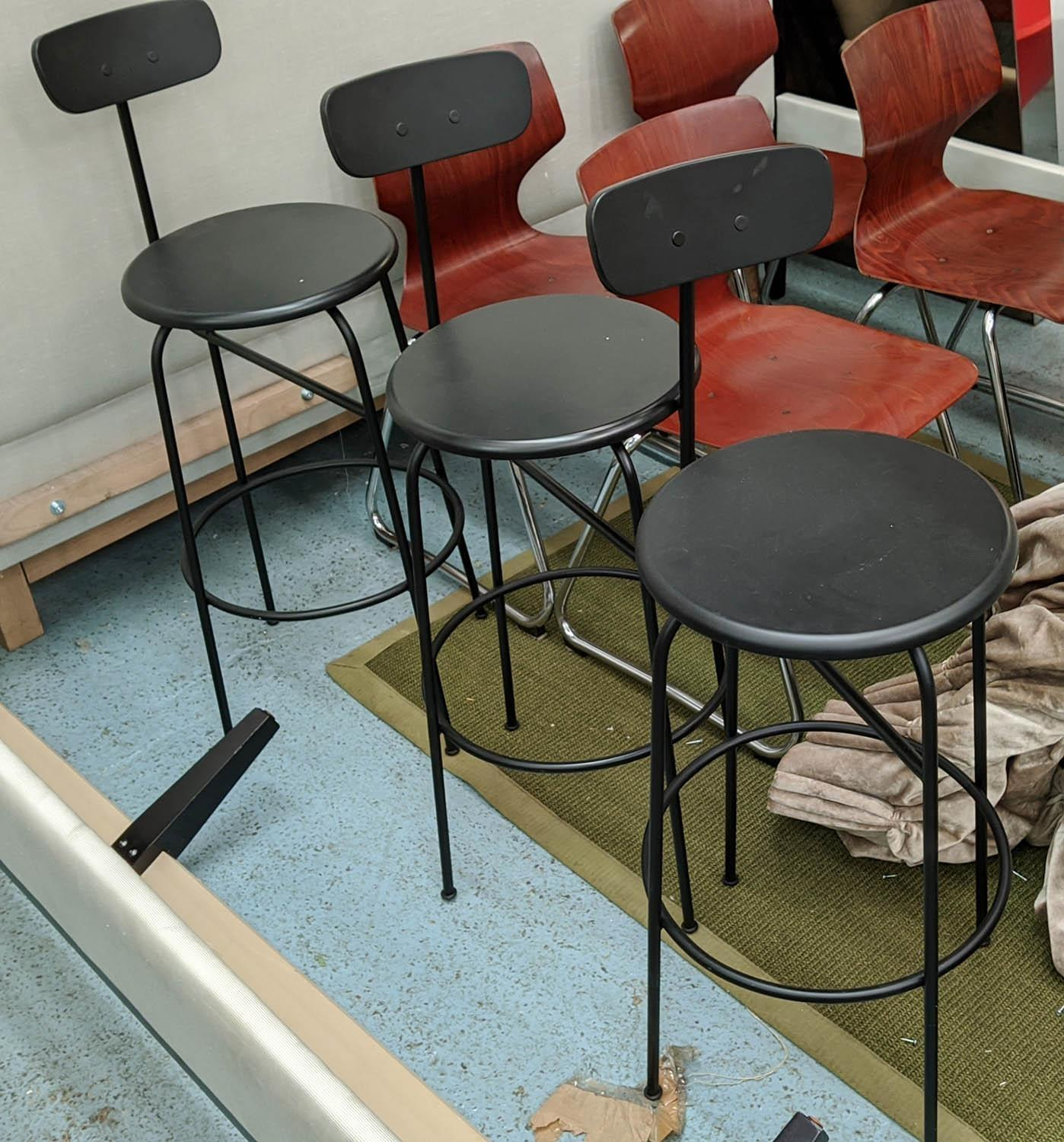 MENUSPACE AFTEROOM BAR CHAIRS, a set of three, by Afteroom Studio, 101cm H. (3)