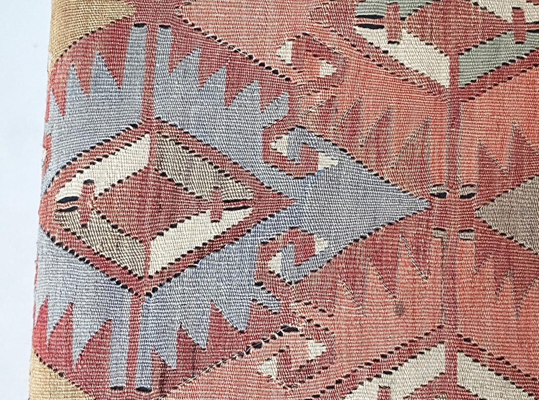 GEORGE SMITH KELIM HEARTH STOOL, rectangular antique kelim upholstered with solid mahogany turned - Image 8 of 9