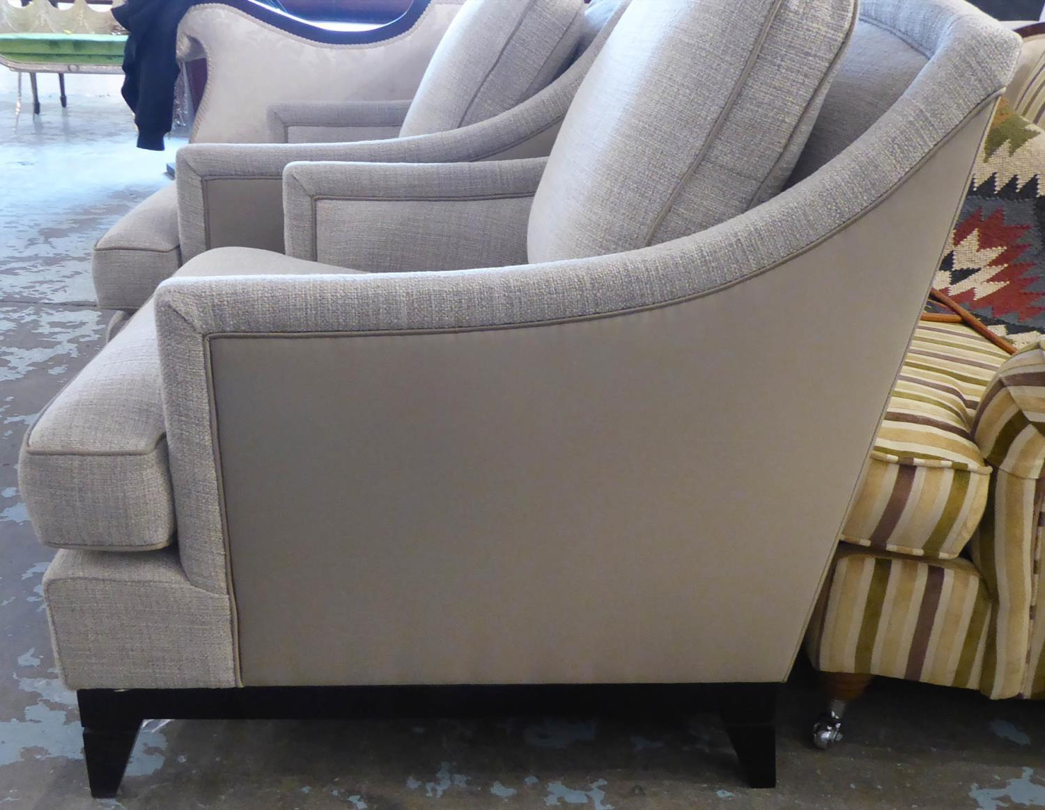 BESPOKE SOFA LONDON ARMCHAIRS, a pair, 76cm approx. (2) - Image 3 of 4