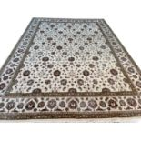 FINE PART SILK PERSIAN SHAH ABBAS DESIGN CARPET, 412cm x 300cm.