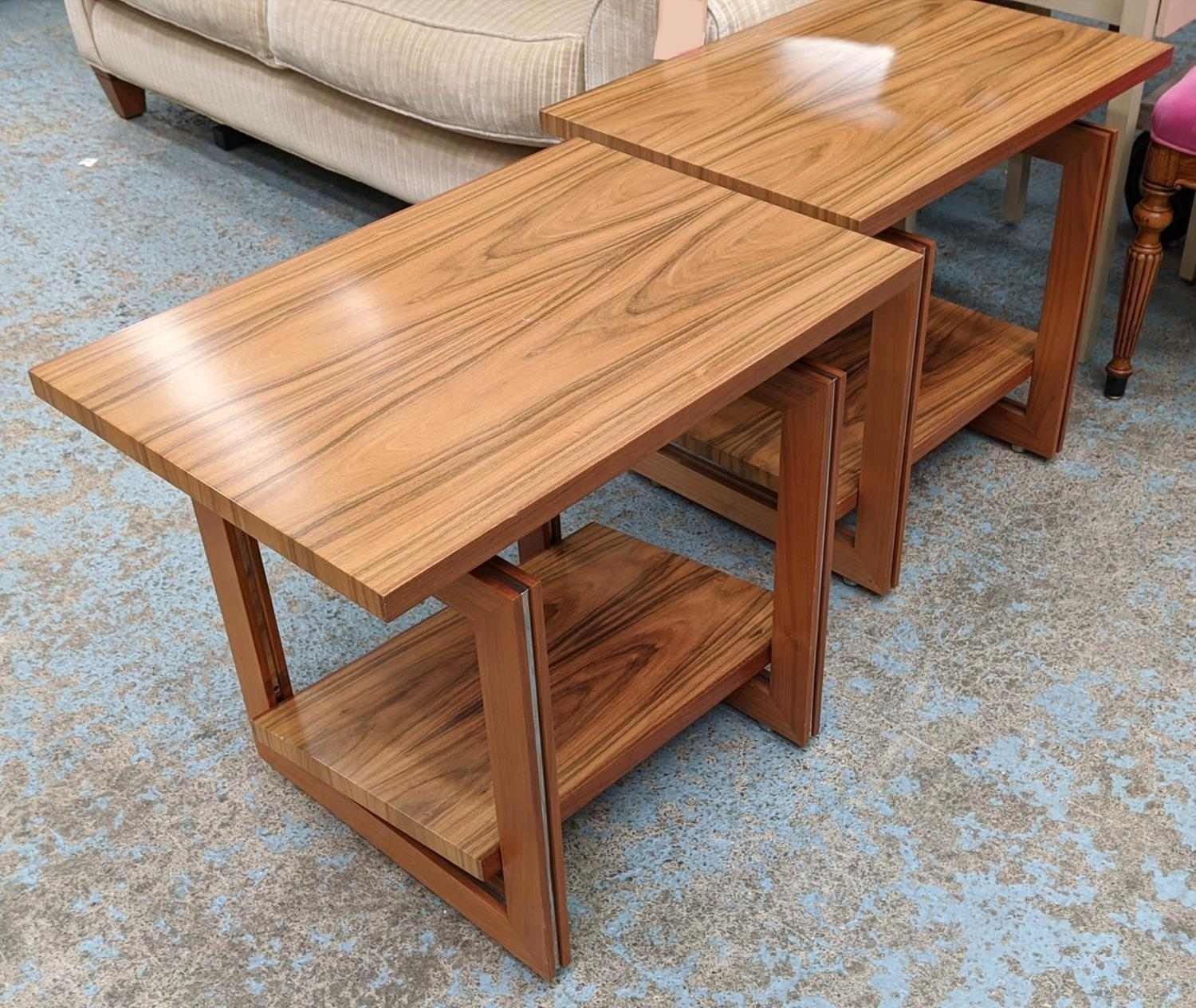 LINLEY HELIX SIDE TABLES, a pair, by David Linley, 65cm x 45cm x 55.5cm. (authenticated by linley) - Image 2 of 4
