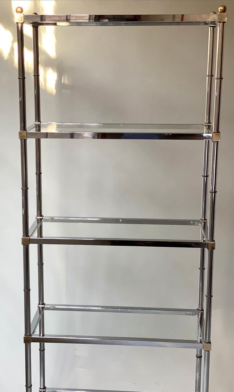 CHROME SHELVES, a pair, chrome frame with rectangular glass shelves each with five shelves, 78cm x - Image 4 of 8