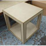 RESTORATION HARDWARE CELA SIDE TABLE BY CHARLIE ZAGAROLI, 56cm x 56cm x 57cm.