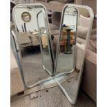 WALL MIRRORS, a pair, 1960's design, silvered finish, 125cm x 57.5cm. (2)