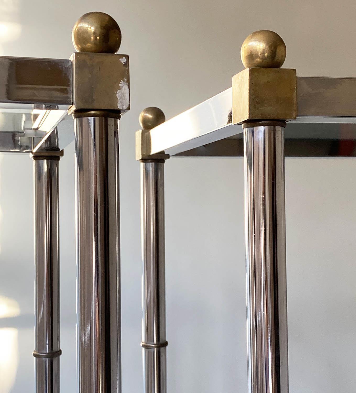CHROME SHELVES, a pair, chrome frame with rectangular glass shelves each with five shelves, 78cm x - Image 7 of 8