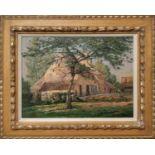 GUSTAVE DIORKENS (1878-1840, Ghent, Belgium) 'Farm House De Piere Vit De Assels, Drongen', oil on