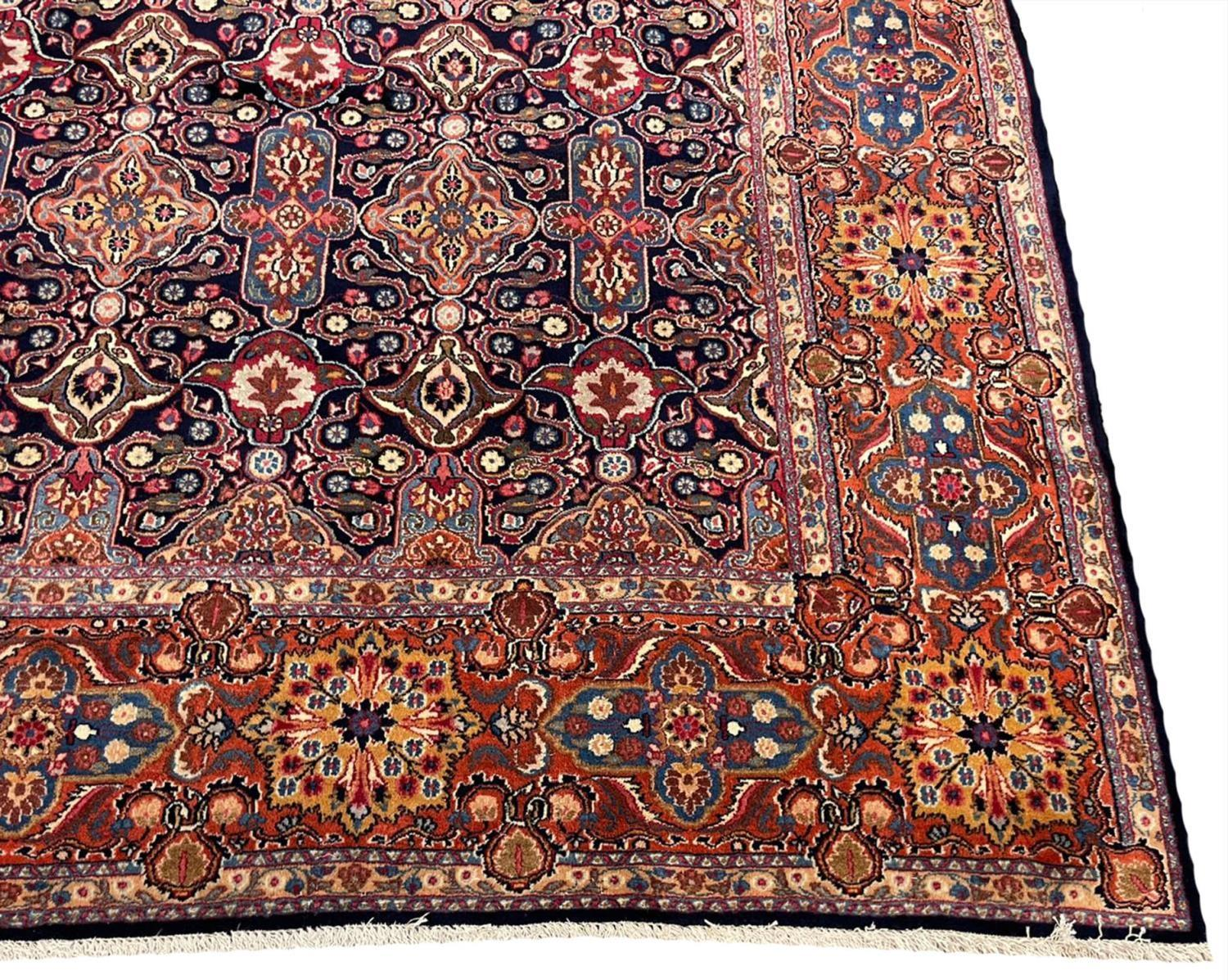 FINE ANTIQUE PERSIAN KHORASSAN CARPET, 340cm x 260cm. - Image 3 of 5
